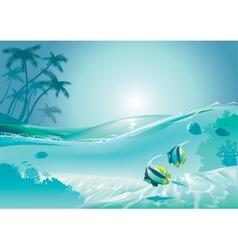 Island fish vector