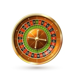 Roulette wheel isolated vector