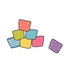 Icon block vector