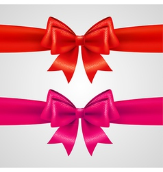 Holiday bows vector