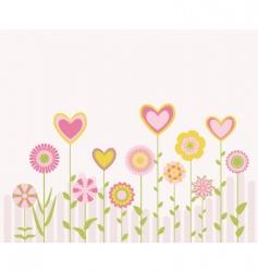 Cute flowers vector
