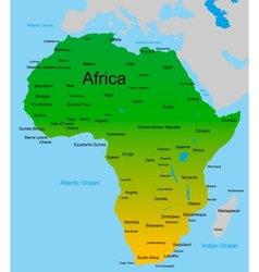 Map of african continent vector