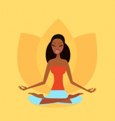Zen meditation vector