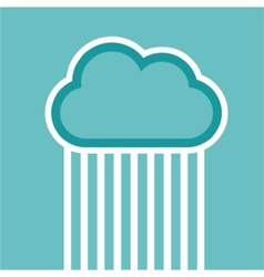 Man in cloud logo isolated on white vector