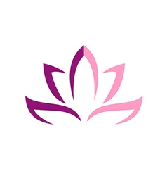 Lotus flower abstract logo vector