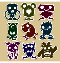 Mini monsters set 1 vector