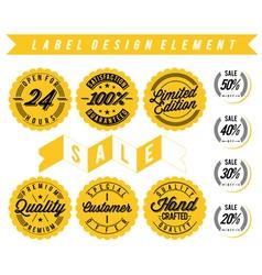 Label design element vector