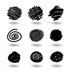 Scribble icons vector