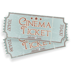 Vintage cinema ticket vector