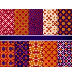Set of classic bright geometric patterns vector