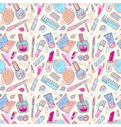 Beauty products cosmetics vector