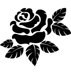 Rose silhouette vector