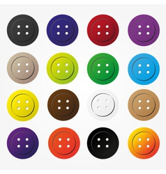 Various color buttons for clothing icons set eps10 vector