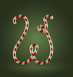 Candy cane abc w vector
