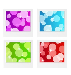Photo frame collection with bubbles vector