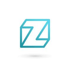 Letter z cube logo icon design template elements vector