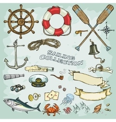 Sailing collection vector