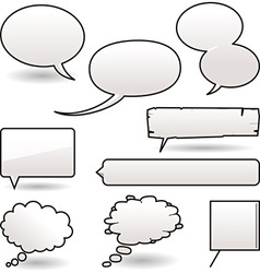 Cartoon speech balloons vector
