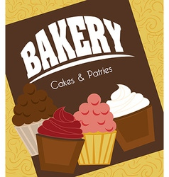 Bakery design over yellow background vector