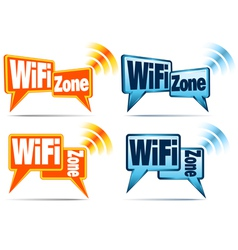 Wifi zone wifi icons vector