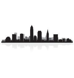 Cleveland usa city skyline silhouette vector