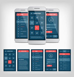 Conception of mobile user interface vector