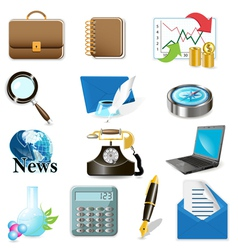 Computer and office icons vector
