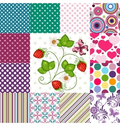 Collection seamless colorful patterns vector