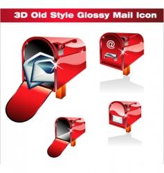Letter box icon vector