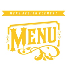 Menu design element vector