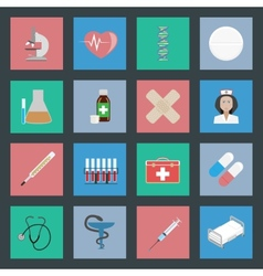 Medicine flat icons set vector