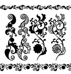 Pattern black seamless banner vector