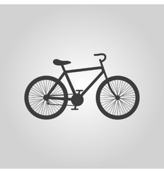 The bicycle icon bike symbol flat vector