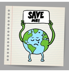 Save the earth design template  eps10 vector