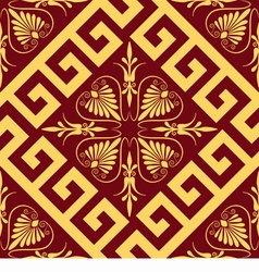 Seamless golden greek ornament vector