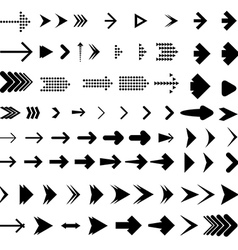 Arrow brush collection vector