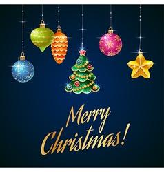 Flash christmas tree blue vector