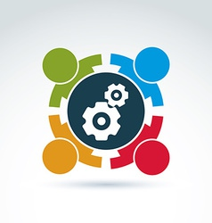Gears - enterprise system theme internat vector
