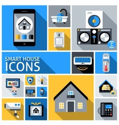 Smart house icons vector