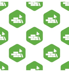 Building wall pattern vector