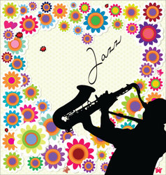 Jazz and flower background vector