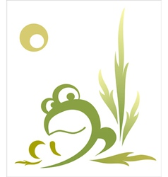 Abstract decorative frog vector