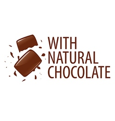 Logo with natural dark chocolate vector