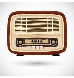 Grunge vintage wooden radio vector