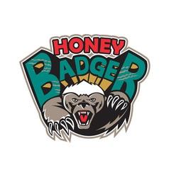 Honey badger mascot front vector