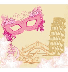 Symbols italians - the carnival mask venice vector