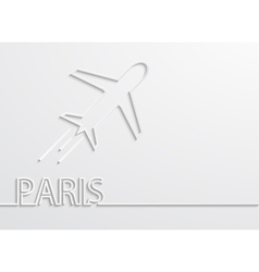 Modern paris capital background vector