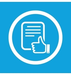 Good document sign icon vector