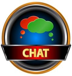Chat symbol vector