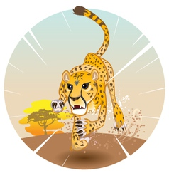 Cheetah king of speed vector